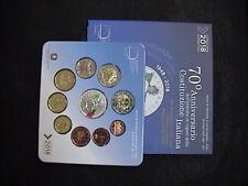 ITALIA 2018 SET COMPLETO FDC 10 monete DIVISIONALE COSTITUZIONE ITALIANA con 5 €