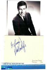 Dick Van Dyke vintage signed album page AFTAL#145