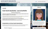 Gute-Nacht-Geschichte.info - Nischenseite - Affiliate Webseite / Webprojekt