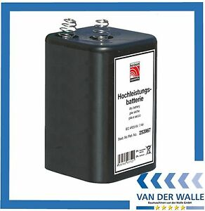 24 Stück Hochleistung Blockbatterie Batterie 6 V - 7 Ah - IEC 4 R25