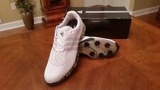 Adidas adiPure Nuovo Tour Mens Golf Shoes 81621 NEW WH/BLK 10WD $249 RET Mint!