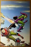 Spider-Man Vs Green Goblin Marvel Comics Poster by John Romita Sr