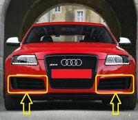Genuine  AUDI RS6 C6 (2008-2010) Front Bumper Lower Grill LEFT + RIGHT PAIR SET