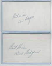 (2) Dick Wakefield Index Card Signed 1941-52 Tigers Yankees Psa/Dna 1921-1985