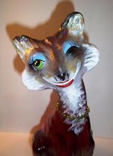 "Fenton Glass Ruby Red ""Vixen"" Foxy Alley Cat Figurine Ltd Ed GSE #6/11 Spindler"