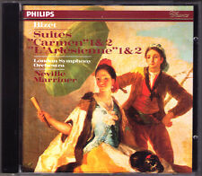 Sir Neville Marriner: Bizet CARMEN & L 'ARLESIENNE Suite No. 1 & 2 PHILIPS PDO CD