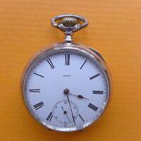 Elegante Omega Taschenuhr Silber 800er Schweiz Swiss made pocket watch um 1900