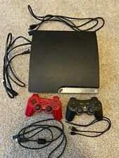 Sony PS3 - Slim 160GB Black Console (Used) 2 Controllers and 5 Games Included