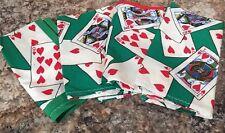 Handmade Set Of 4 Cloth Dinner Napkins Playing Card Design