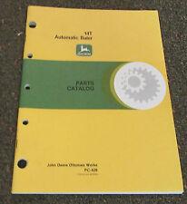 JOHN DEERE 14T AUTOMATIC BALER PARTS CATALOG PC-426