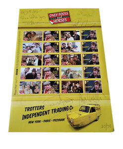 Only Fools and Horses Royal Mail Stamps Smiler Sheet Signed by Cast Limited Edn