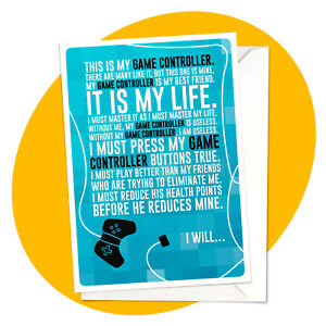 I Will - GAMER GREETING CARD - game ps4 xbox rifleman personalised personalized