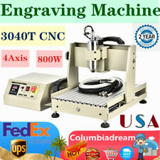 4 Axis 800w Cnc 3040 Router Engraver Engraving Machine Milling Vfd Diy Cutter