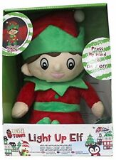 Christmas Elf Light Up LED Childrens Plush Soft Toy Kids Night Light