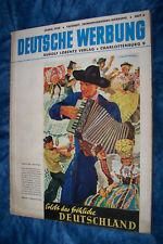1938 allemands Publicité cahier 6 connu le joyeux ALLEMAGNE LUFTHANSA Dr Antik