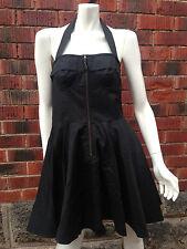 BNWT black halter dress KAREN WALKER size10 pinup rockabilly vintage 50s RRP$199