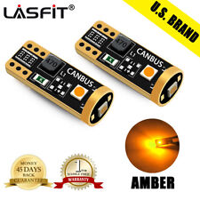 Lasfit 3000K Amber W5W 175 2825 168 194 T10 LED Parking Light Bulbs Super Bright