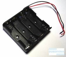 Battery Box Slot Holder Case for 4 Packs Standard AA 2A Batteries Stack 6V G9