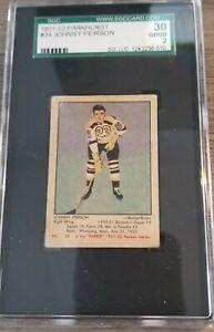 1951-52 Parkhurst Hockey #34 Johnny Peirson SGC 2