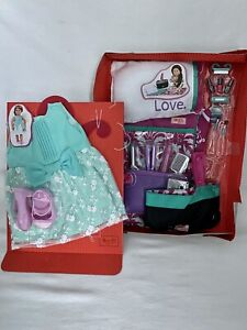 """Our Generation Doll Sleepover Party Set Slumber 18"""" Accessory & Dress NEW"""