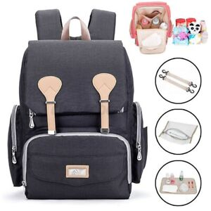 UK Mom Maternity Bag Baby Nappy Diaper Changing Backpack Mummy Rucksack Gift