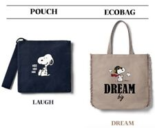 innisfree Peanuts Snoopy 2018 Dream Bag and Laugh Pouch #Rare #Authentic #BOXED