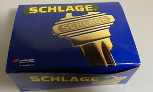 NIB New In Box Schlage Model F40 ORB 626 Satin Chrome Privacy Locking Latch Set