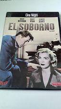 "DVD ""EL SOBORNO"" COMO NUEVA JOHN CROMWELL ROBERT MITCHUM ROBERT RYAN LIZABETH SC"