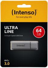 Intenso USB Stick 64GB Speicherstick Ultra Line silber USB 3.0