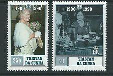TRISTAN DA CUNHA SG498/9 1990 90th BIRTHDAY OF QUEEN MOTHER  MNH