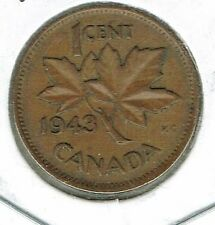 1943 Canadian Circulated George VI One Cent coin!