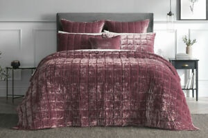 SHERIDAN Canfield Bed Cover Super King|King | Queen Bed size in Rosewood