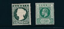 Gambia #12 & #87; (1886) & (1921); MH; NICE CLEAN EMBOSSING ON #12 (NOT FLAT)