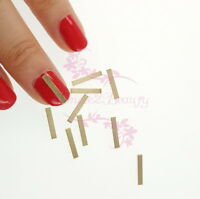 100 Flat Bar Alloy Charms Metal Studs 3D Nail Art Manicure Design Japanese Style