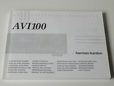 harman/kardon AVI 100  Bedienungsanleitung Instruction Manual D GB NL E F P I GR