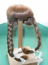 "doll wig light brown 7.5"" to 8"" braids/1970s/vintage/Germany"