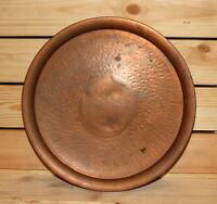 Vintage hand made copper round serving tray