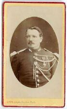 RARE  WAR FRANCE EUROPEAN MILITARY CDV: French Military Officer Carte de Visite