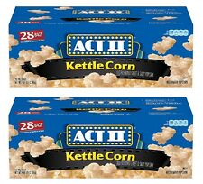 ACT II Kettle Corn Microwave Microwavable 28 Bags x 2 Boxes(56 Bags Total) FRESH