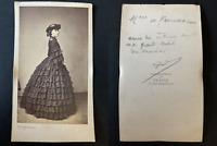 Franck, Paris, Madame de Ferrussac, famille Du Moiron Vintage albumen print CDV.