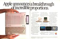 1984 Apple IIc Personal Computer photo Size Breakthrough 2-page vintage print ad
