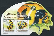 Pitcairn Islands 2017 MNH Transverse Ladybird 2v M/S Ladybirds Beetles Stamps