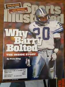 SPORTS ILLUSTRATED Magazine BARRY SANDERS Detroit Lions Cover August 1999