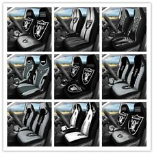 Car Seat Cover Personalized Nonslip Auto Seat Protector 2Pcs for Oakland Raiders