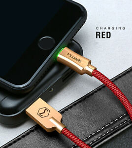 MCDODO USB Cable LED Fast Charging Data Cord Charger For iPhone 12 11 XS X 8 7 6
