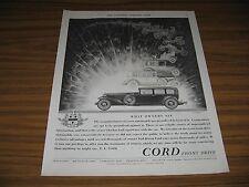 1930 Print Ad Cord Front Drive Sedans Auburn Automobile Co Indiana