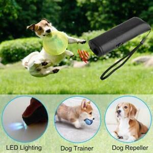 Ultrasonic Anti Dog Barking Trainer LED Light Gentle Sonics gentle Chasers D0P3