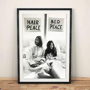 John Lennon And Yoko Ono Bed Protest Print - A4 / A3 / A2
