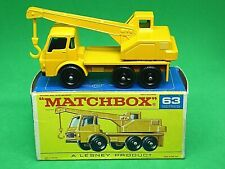 Matchbox Lesney No.63c Dodge Crane Truck In 'F1' With 'New' Box (LAST ISSUE)