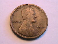 1915-P Lincoln Cent Ch F Fine Nice Toned Original Wheat Penny USA Coin